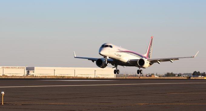 استفاده از کامپوزیت های فیبر کربن در بدنه هواپیمای ژاپنی MRJ