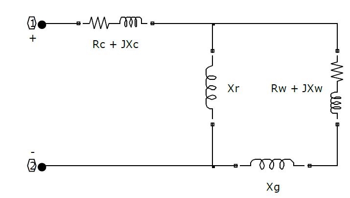 شکل کلی مدار الکتریکی یک کوره القایی
